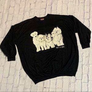 Vintage Dog Crewneck Heads & Tails Sweat Size XL